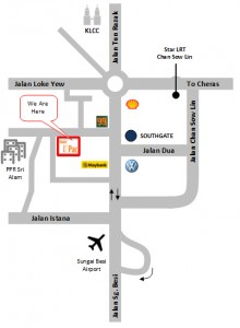 U Pac Hotel Location Map